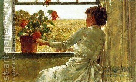 Summer Evening by Childe Hassam - Reproduction Oil Painting