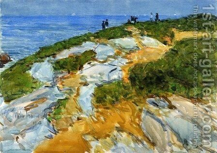 Sunday Morning, Appledore by Childe Hassam - Reproduction Oil Painting