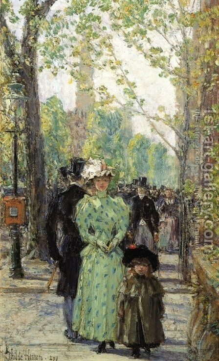 Sunday Morning by Childe Hassam - Reproduction Oil Painting