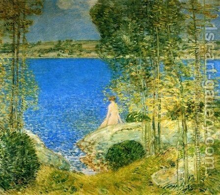 The Bather by Childe Hassam - Reproduction Oil Painting
