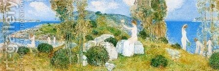 The Bathers by Childe Hassam - Reproduction Oil Painting