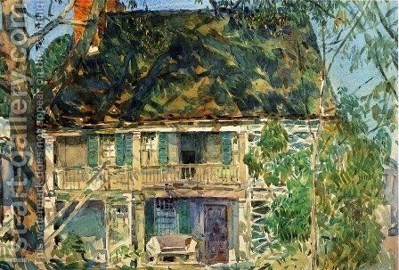 The Brush House 2 by Childe Hassam - Reproduction Oil Painting