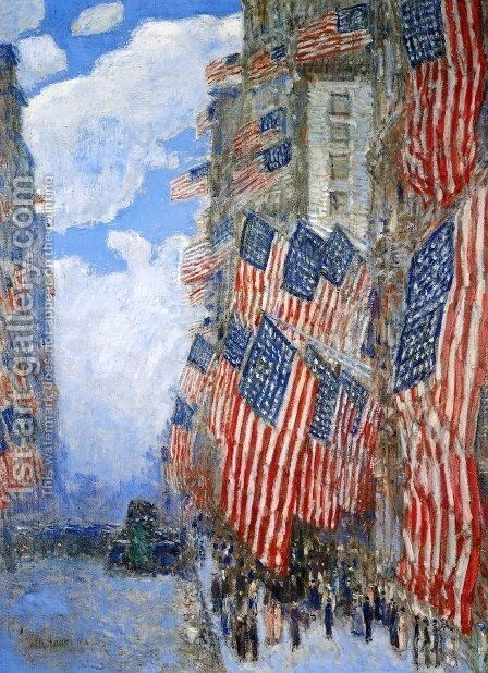 The Fourth of July, 1916 by Childe Hassam - Reproduction Oil Painting