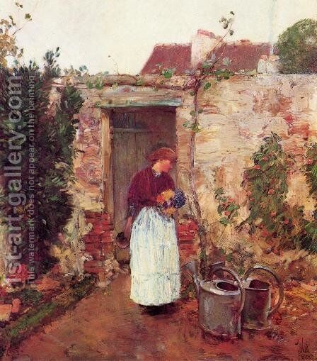 The Garden Door by Childe Hassam - Reproduction Oil Painting