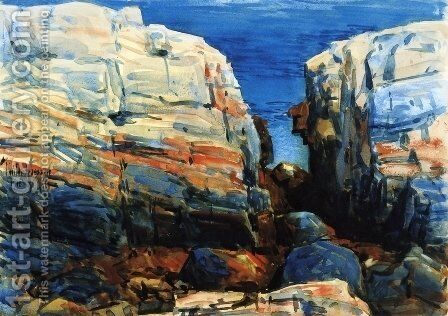 The Gorge, Appledore by Childe Hassam - Reproduction Oil Painting