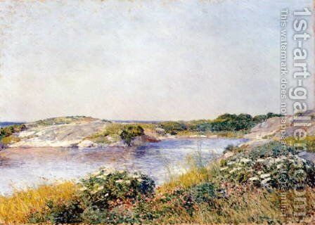 The Little Pond, Appledore by Childe Hassam - Reproduction Oil Painting