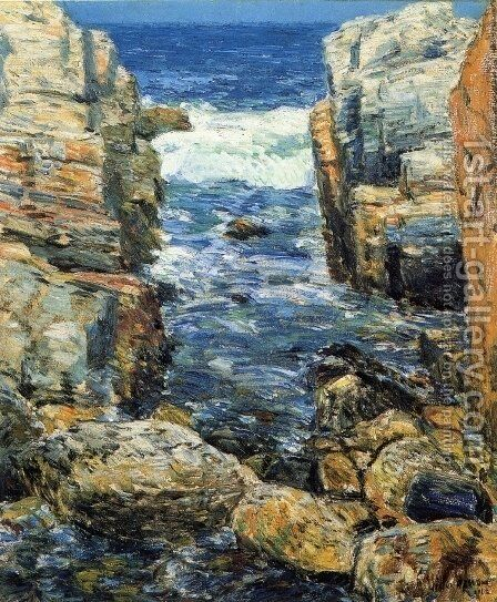 The South Gorge, Appledore, Isles of Shoals by Childe Hassam - Reproduction Oil Painting
