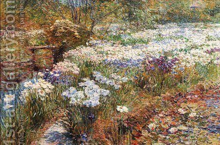 The Water Garden by Childe Hassam - Reproduction Oil Painting