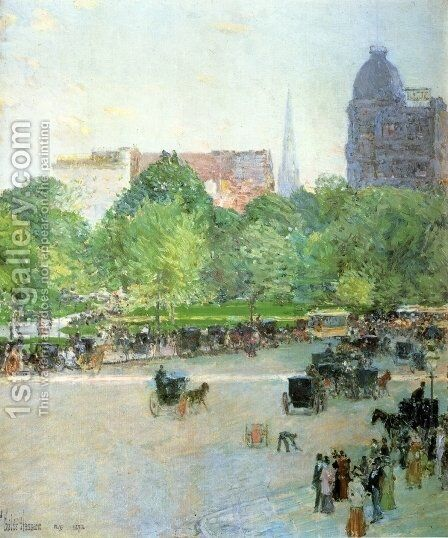 Union Square by Childe Hassam - Reproduction Oil Painting