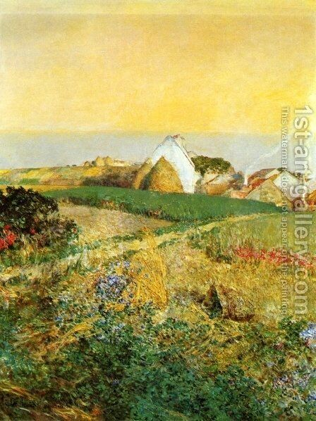 Villiers le Bel by Childe Hassam - Reproduction Oil Painting
