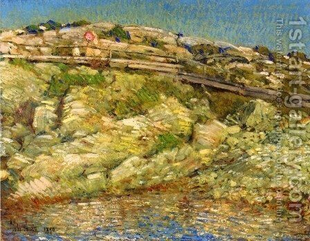 Walk Around the Island by Childe Hassam - Reproduction Oil Painting