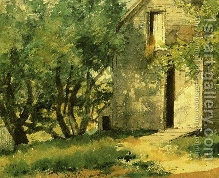 White Barn by Childe Hassam - Reproduction Oil Painting