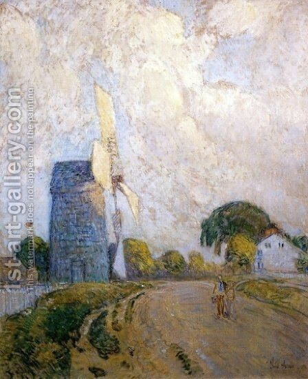 Windmill at Sundown, East Hampton by Childe Hassam - Reproduction Oil Painting