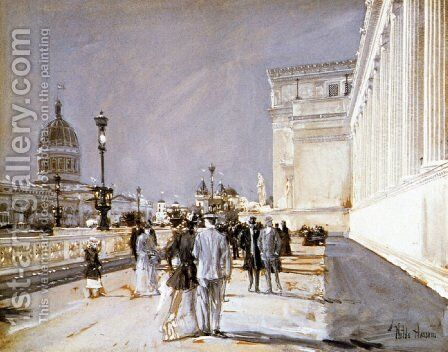 World's Fair, Chicago by Childe Hassam - Reproduction Oil Painting