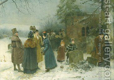 Christmas Morning by Edward Frederick Brewtnall - Reproduction Oil Painting