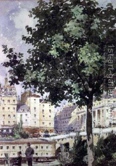 The Pont Neuf by Henri-Joseph Harpignies - Reproduction Oil Painting