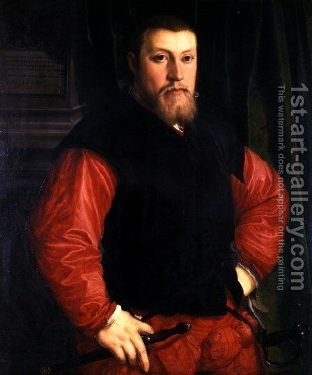 Portrait of Hieronymus Sulczer by Christoph Amberger - Reproduction Oil Painting