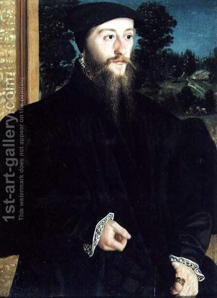 Portrait of a Bearded Gentleman by Christoph Amberger - Reproduction Oil Painting