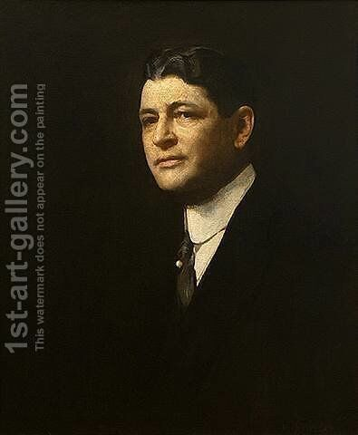 Portrait of George Dempsey by Edmund Charles Tarbell - Reproduction Oil Painting