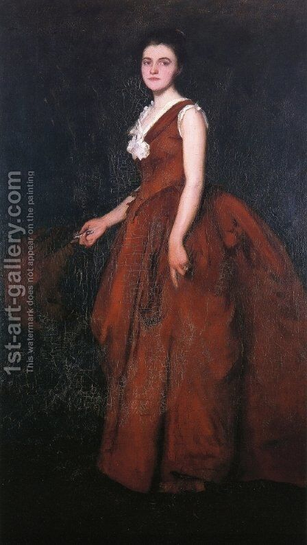 Portrait of Madame Tarbell by Edmund Charles Tarbell - Reproduction Oil Painting