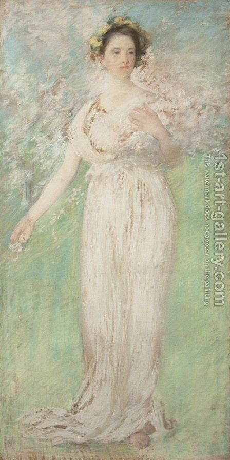 The Symbol of Spring by Edmund Charles Tarbell - Reproduction Oil Painting