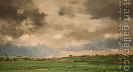 Landscape 2 by Charles-Francois Daubigny - Reproduction Oil Painting