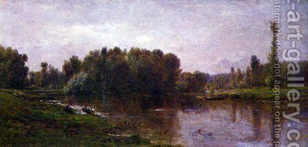 The banks of the Oise 2 by Charles-Francois Daubigny - Reproduction Oil Painting