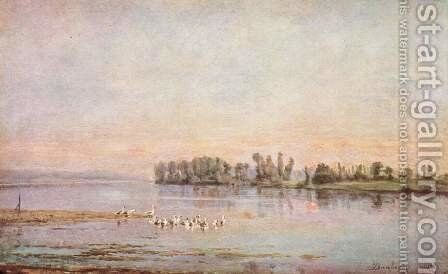 The morning by Charles-Francois Daubigny - Reproduction Oil Painting
