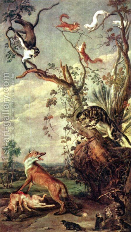 Fox and cat by Frans Snyders - Reproduction Oil Painting
