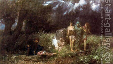Assassin pursued by the furies by Arnold Böcklin - Reproduction Oil Painting