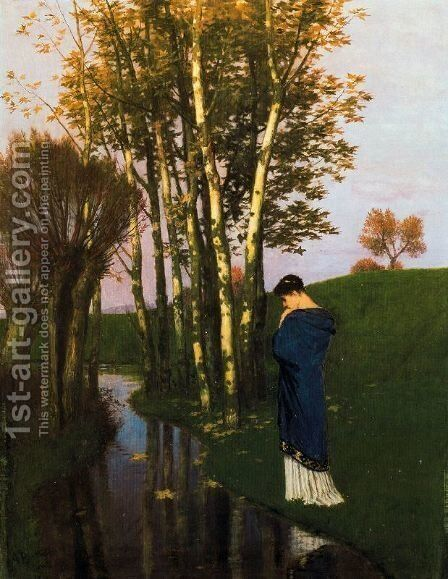 Autumn Thoughts by Arnold Böcklin - Reproduction Oil Painting