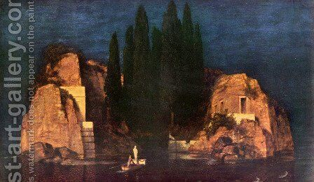Dead island by Arnold Böcklin - Reproduction Oil Painting