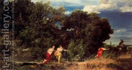 La Chasse de Diane by Arnold Böcklin - Reproduction Oil Painting