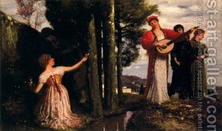 Look, any laughs to the plains!  (Souvenir de San Domenico) by Arnold Böcklin - Reproduction Oil Painting