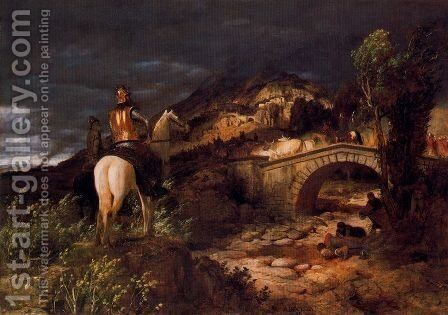 March of Goths by Arnold Böcklin - Reproduction Oil Painting