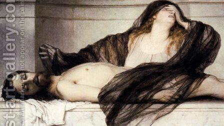 Mary Magdalene crying for the dead Christ by Arnold Böcklin - Reproduction Oil Painting
