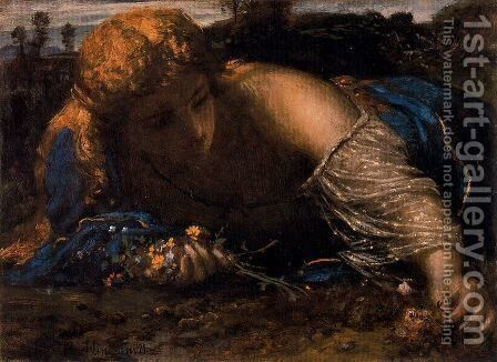 Nymphe by Arnold Böcklin - Reproduction Oil Painting