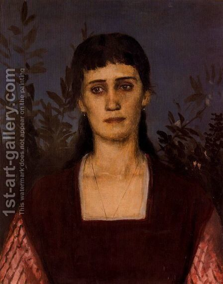 Portrait of Clara Bruckmann-Böcklin by Arnold Böcklin - Reproduction Oil Painting
