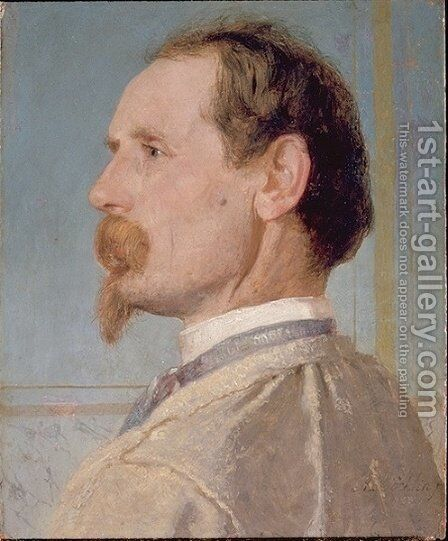 Portrait of the sculptor Josef von head by Arnold Böcklin - Reproduction Oil Painting