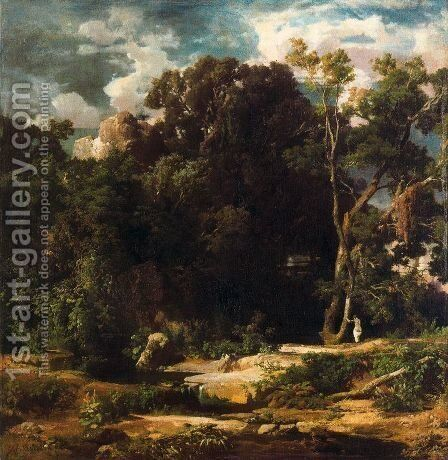 Roman Landscape by Arnold Böcklin - Reproduction Oil Painting