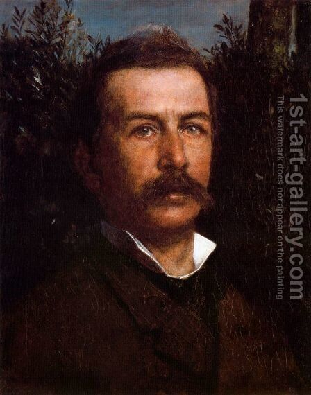 Self portrait by Arnold Böcklin - Reproduction Oil Painting