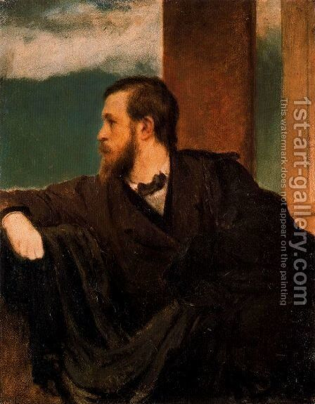 Self portrait 2 by Arnold Böcklin - Reproduction Oil Painting
