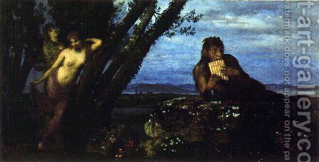 Spring Evening by Arnold Böcklin - Reproduction Oil Painting
