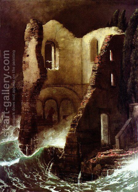 The Chapelle by Arnold Böcklin - Reproduction Oil Painting