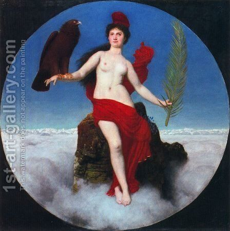 The Freedom (Helvetia) by Arnold Böcklin - Reproduction Oil Painting