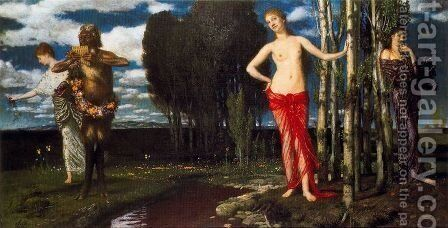 The Wake-Up Spring by Arnold Böcklin - Reproduction Oil Painting