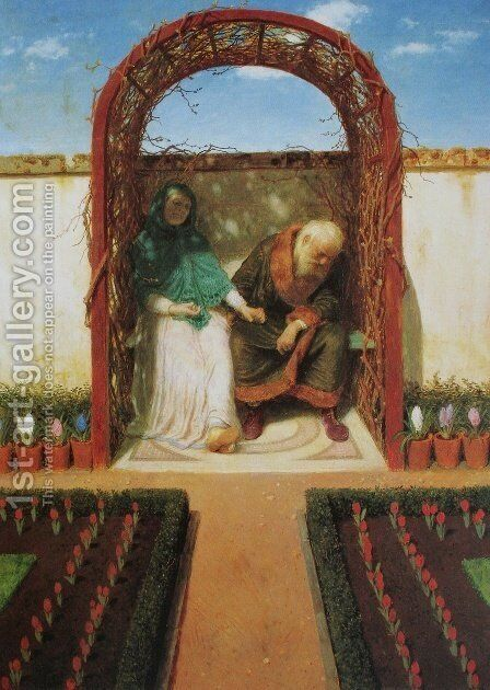 Under the alcove by Arnold Böcklin - Reproduction Oil Painting