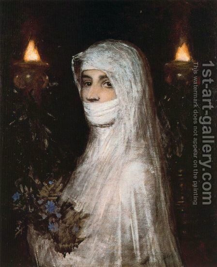 Vestale by Arnold Böcklin - Reproduction Oil Painting