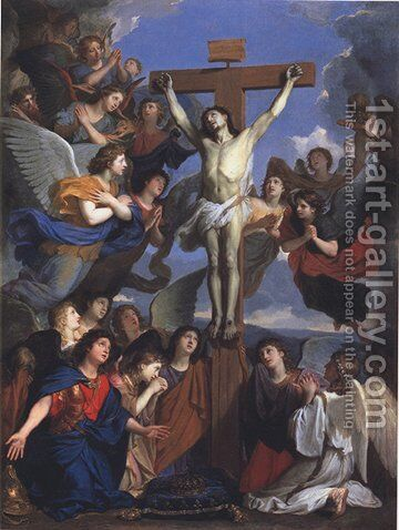 Crucifix of Angels by Charles Le Brun - Reproduction Oil Painting
