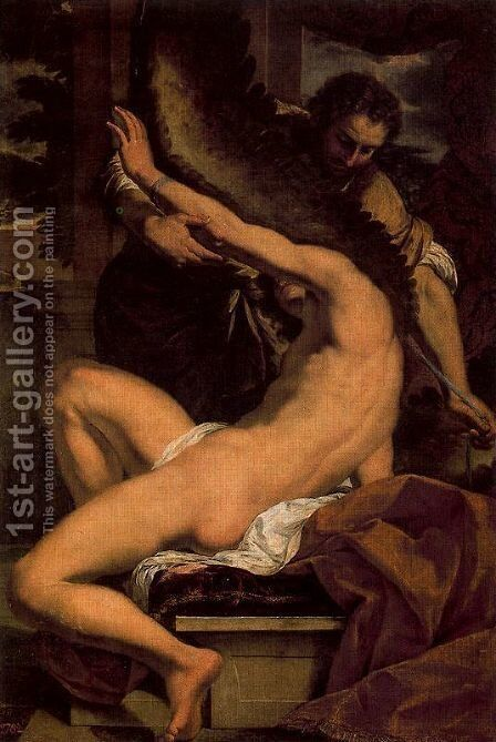 Dedalus and Icaro by Charles Le Brun - Reproduction Oil Painting